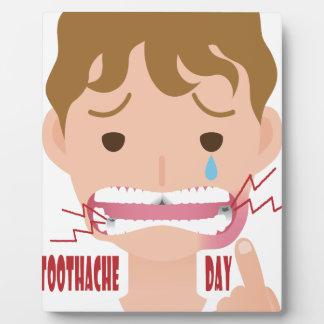 9 février - jour de mal de dents - jour plaque d'affichage