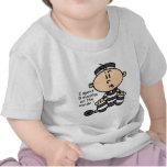 9 mois sur le prisonnier intérieur de bébé t-shirts