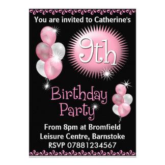9ème Invitation de fête d'anniversaire