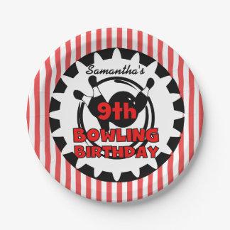9ème Le bowling folâtre les plaques à papier Assiette En Papier 17,8 Cm