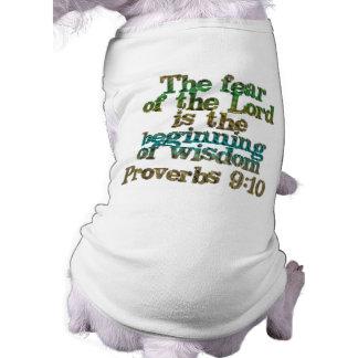9h10 de proverbes t-shirt pour chien
