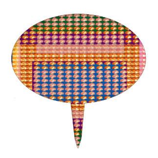 9TEMPLATE a coloré facile D'AJOUTER des cadeaux Étiquette À Gâteau