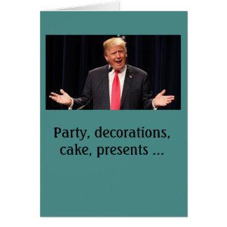 """""""A compliqué"""" la carte d'anniversaire de Donald"""