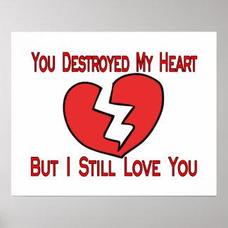 A détruit mon coeur Valentine Affiche