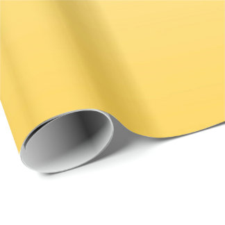 À deux tons jaune citron papier cadeau
