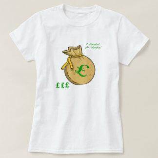 A donné une fessée au T-shirt de banquier