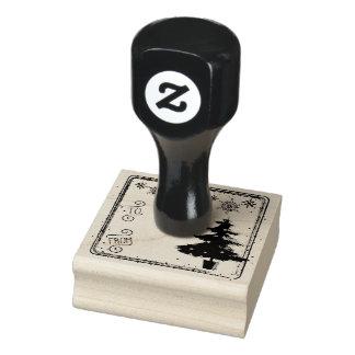 À du timbre d'étiquette de cadeau d'arbre de Noël