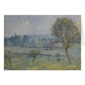 À Éragny de Brouillard par Camille Pissarro Carte De Vœux