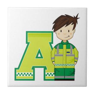 A est pour l'ambulancier petit carreau carré