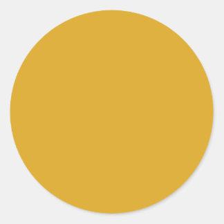 À extrémité élevé doré coloré sticker rond