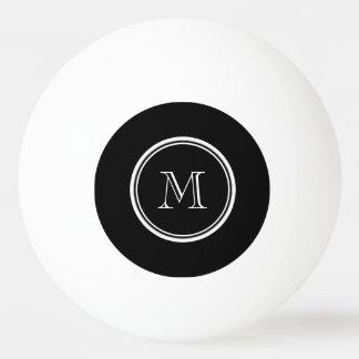 À extrémité élevé noir initial de monogramme balle de ping pong