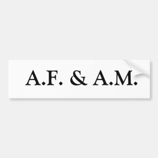 A.F. Et Heure du matin Autocollant Pour Voiture