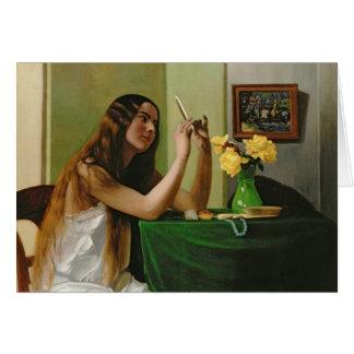 À la coiffeuse, 1911 carte de vœux