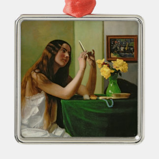 À la coiffeuse, 1911 ornement carré argenté