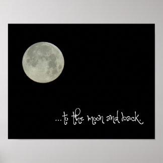 À la lune et au dos poster