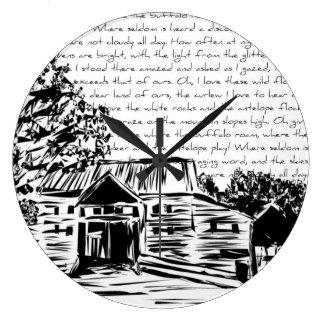 """""""À la maison hors de la gamme"""" - décorative, motif Grande Horloge Ronde"""