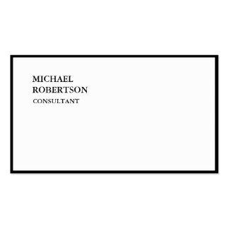 À la mode blanc noir simple spécial exclusif carte de visite standard