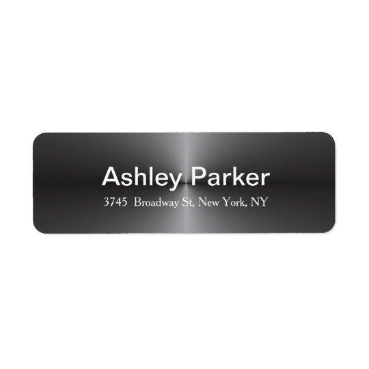 À la mode élégant élégant moderne gris métallique étiquette d'adresse retour