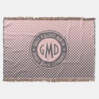 À la mode gris rose millénaire de monogramme de couverture