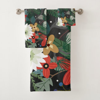 À la mode moderne chic foncé floral coloré génial
