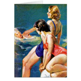 À la piscine carte de vœux
