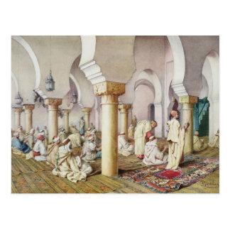 À la prière dans la mosquée, 1884 carte postale