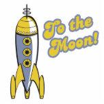 à la rétro fusée d'espace de lune photos en relief