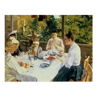 À la Thé-Table, 1888 Cartes Postales