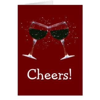 À la votre ! Bonnes fêtes verres et neige de vin Carte De Vœux
