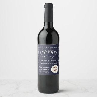 À la votre ! Étiquette floral classique de vin de