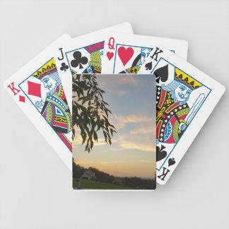 À l'extrémité de jours jeux de cartes