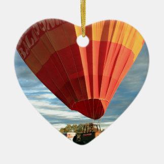 À l'intérieur ballon à air chaud, Australie Ornement Cœur En Céramique