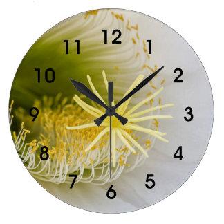 À l'intérieur de d'un Echinopsis en fleur Grande Horloge Ronde