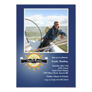 À l'invitation nautique de photo de barre (marine)