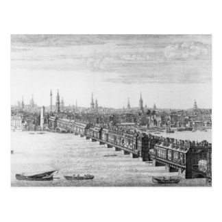 À l'ouest avant du pont de Londres, 1749 Carte Postale
