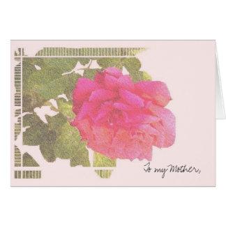 À ma mère carte de vœux
