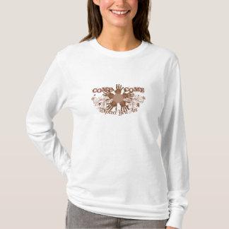 À manches longues à capuchon pour des femmes t-shirt