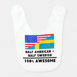 À moitié américain plus à moitié suédois bavoir