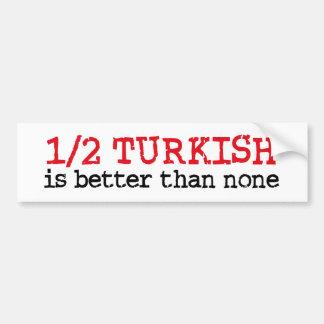 À moitié turc autocollant pour voiture