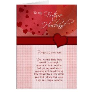 À mon futur mari pourquoi faites je t'aime carte de vœux