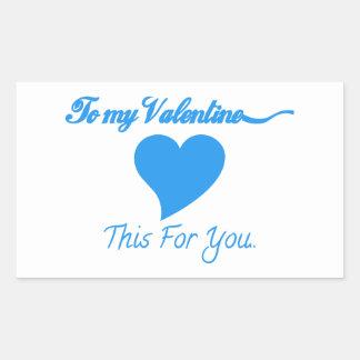 À mon Valentine Sticker En Rectangle