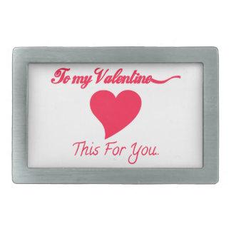 À mon Valentine Boucles De Ceinture Rectangulaires
