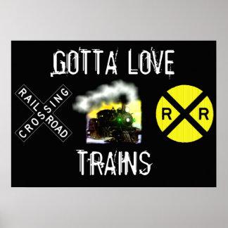 A obtenu d'aimer l'affiche de trains