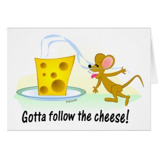 A obtenu de suivre le fromage ! cartes