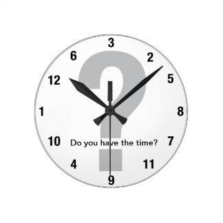 A obtenu le temps ? horloge