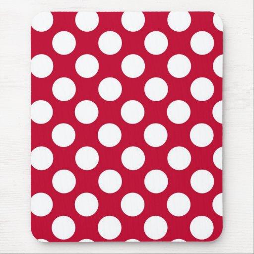 petits pois rouge et blanc mousepad tapis de souris zazzle. Black Bedroom Furniture Sets. Home Design Ideas
