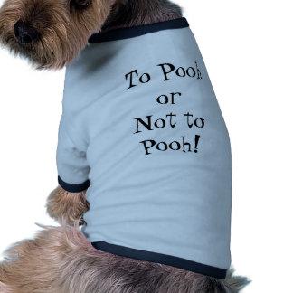 À peuh ou pas peuh ! Habillement d'animal familier T-shirt Ringer Pour Chien