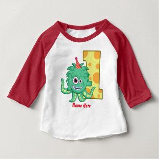 Ă?re coutume d'anniversaire de monstre t-shirt pour bébé
