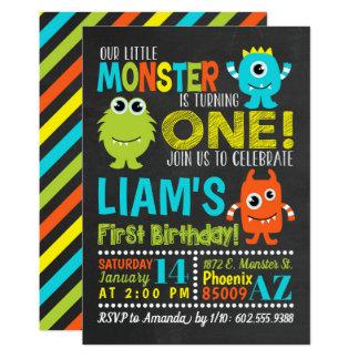 Ă?re invitation de fête d'anniversaire de monstre
