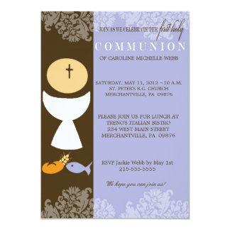 Ă?re invitation de la communion du garçon